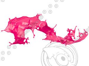 liquid splash 3d model