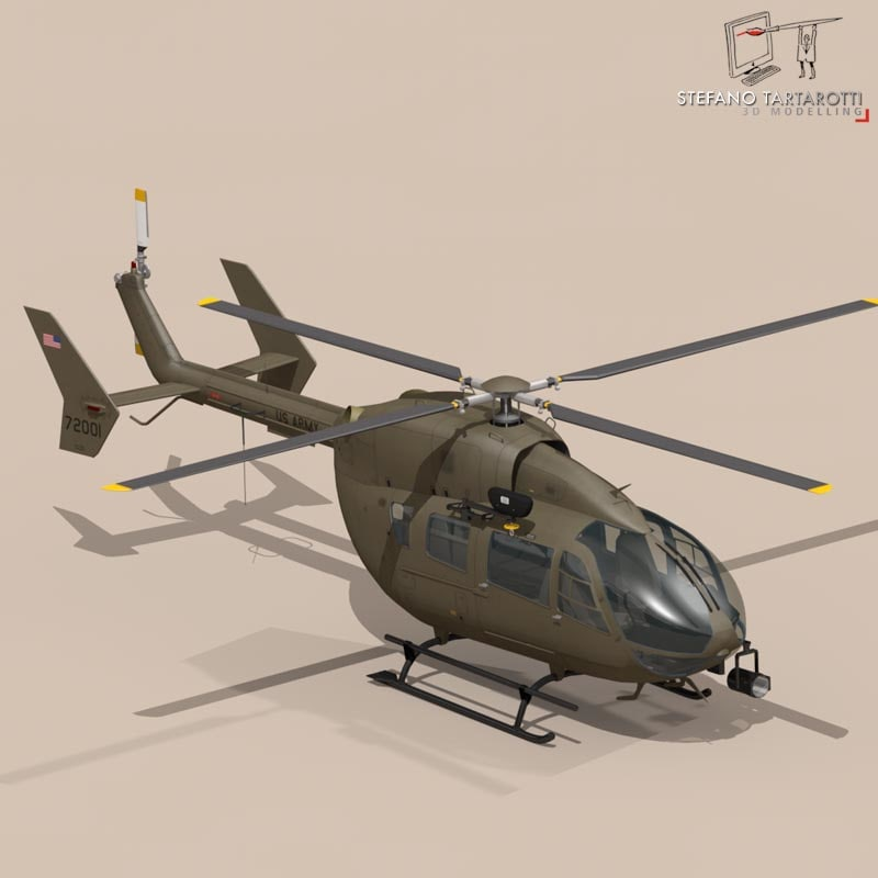 uh72 lakota helicopter 3d c4d