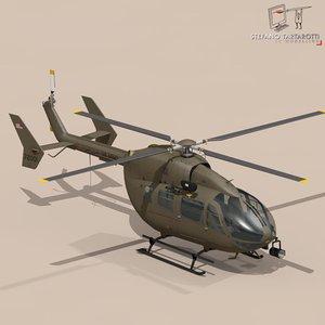 uh72 lakota helicopter 3d c4d