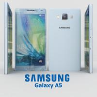 samsung galaxy a5 cyan 3d model