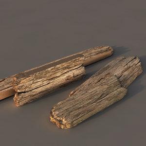 old wood planks 3d model