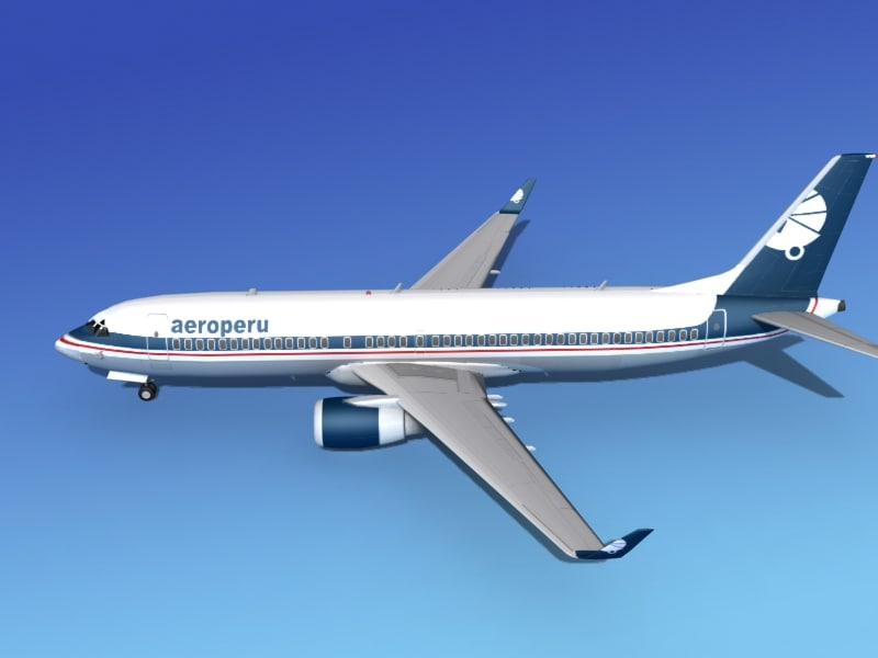 boeing 737-800 737 3d 3ds