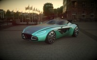 3d model design aston martin cc100