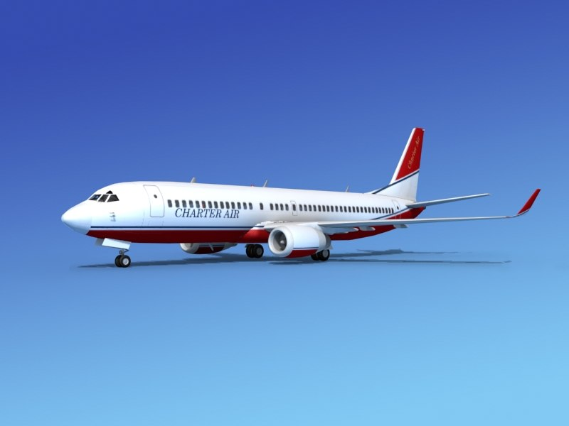 3d max boeing 737-800 737