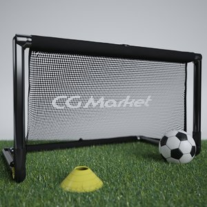 3ds max portable soccer goal ball