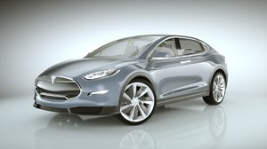 3d 2015 tesla modeled