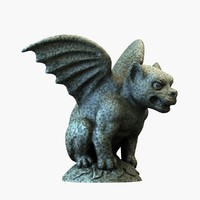 gargoyle dog 3d model