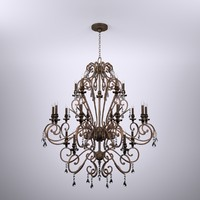 3d crystal bronze chandelier