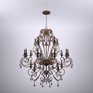 3d crystal bronze chandelier