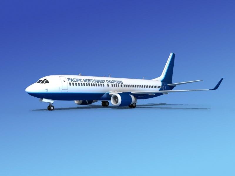 3d model boeing 737-800 737