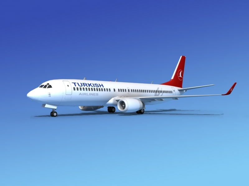 3d model of boeing 737-800 737