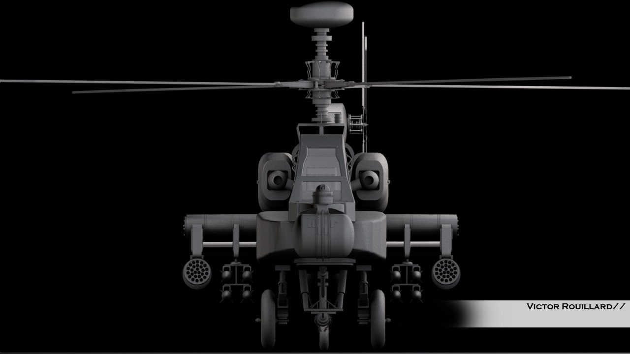 helicopter ah64apache 3d model