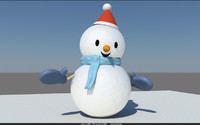 snowman christmas 3d model