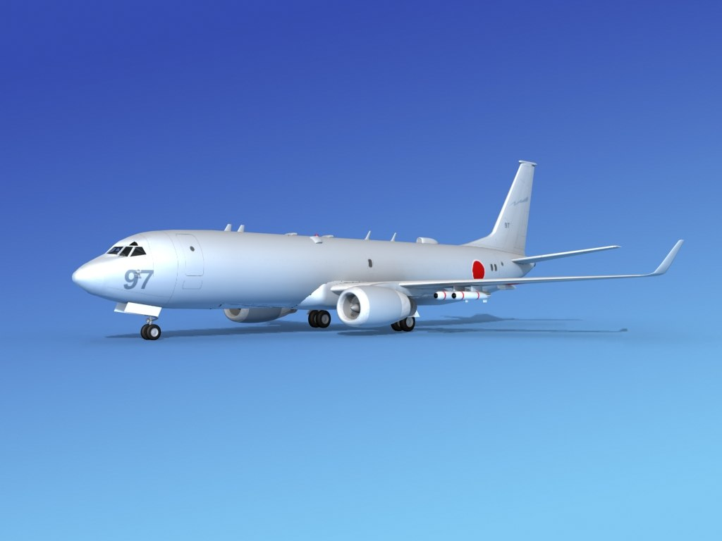 torpedoes boeing p-8 recon 3d model