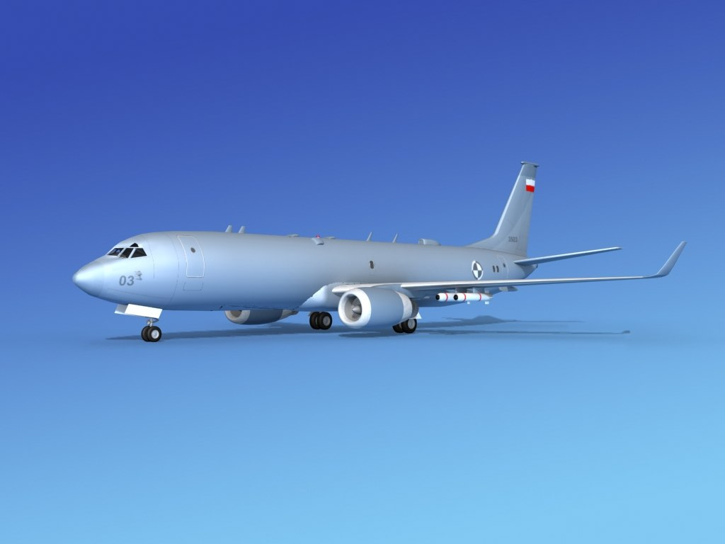 3d model torpedoes boeing p-8 recon