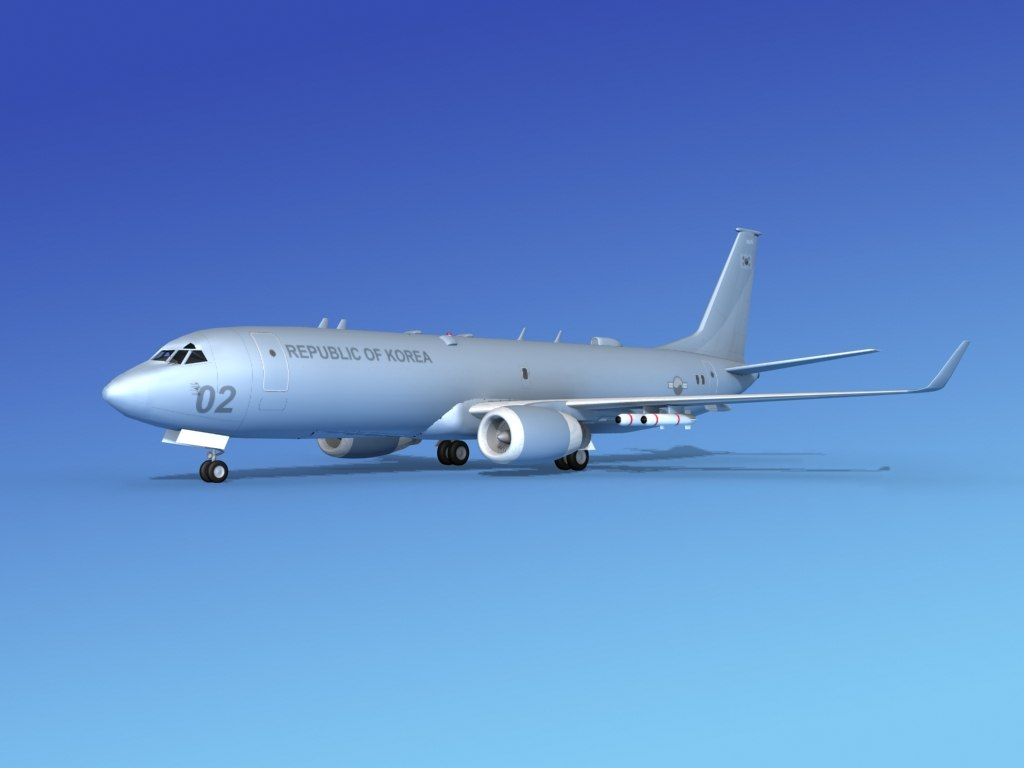 3d torpedoes boeing p-8 recon model