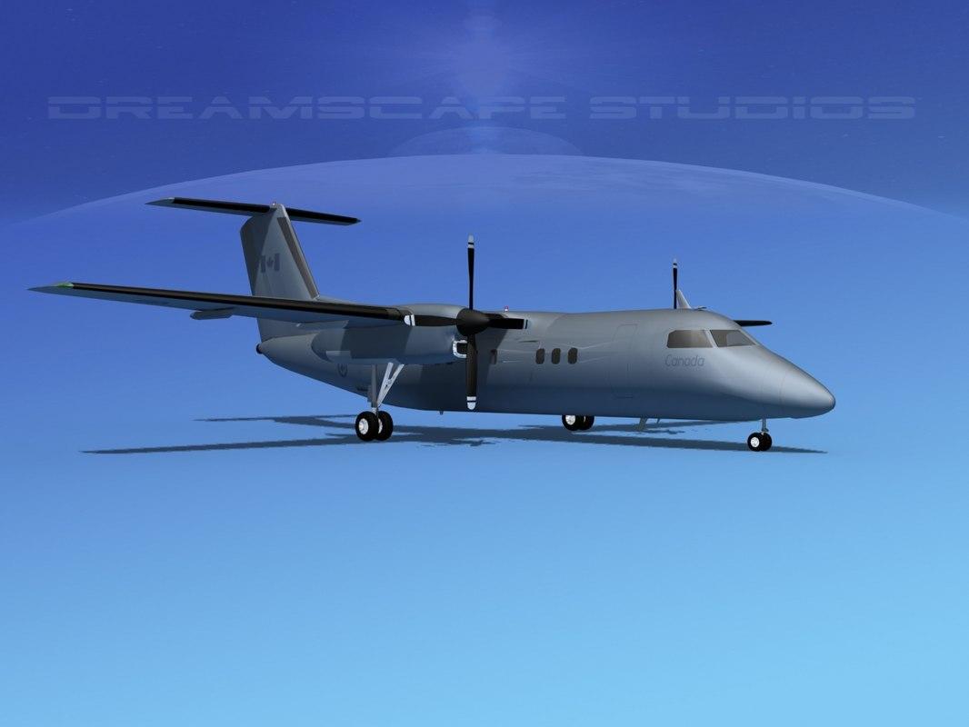 dhc-8-100 dash 8 3d model