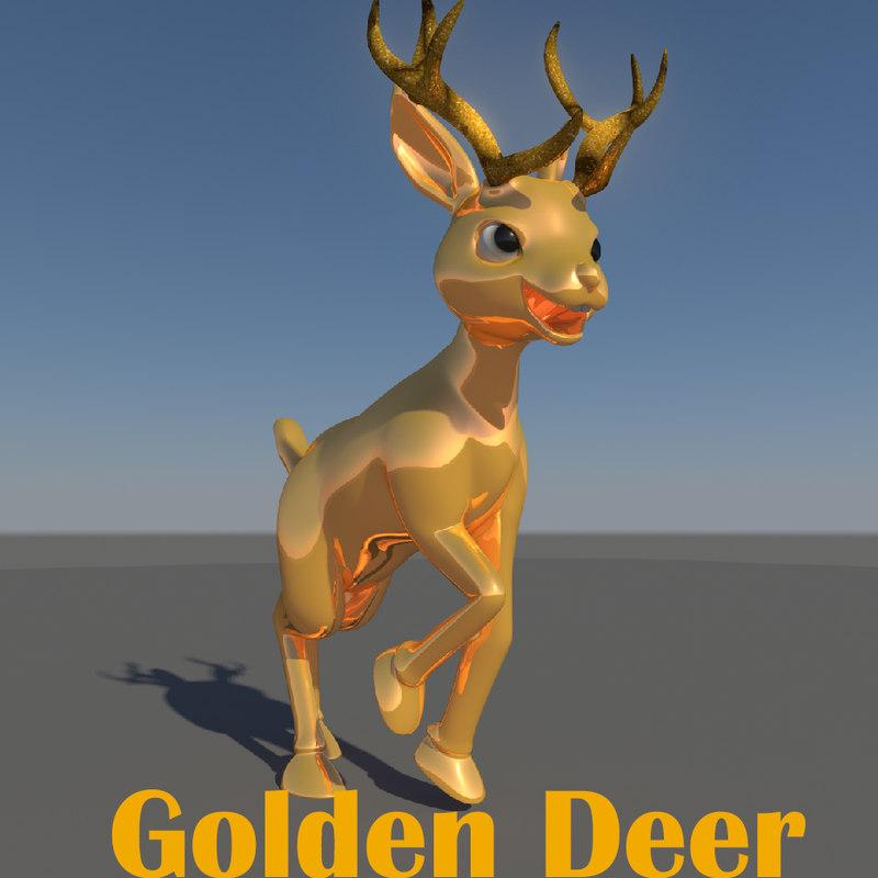 3d model deer animate