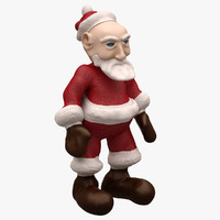 Santa (Cartoon Character) (3 Rigged)