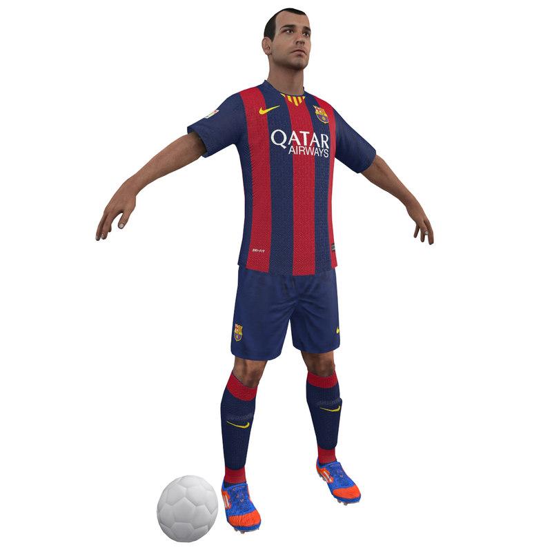 3d model soccer player
