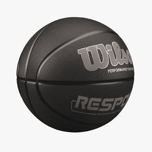 3d model basketball wilson black