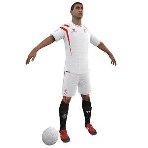 soccer player 3d model