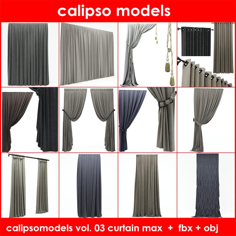 3d curtains 03 model