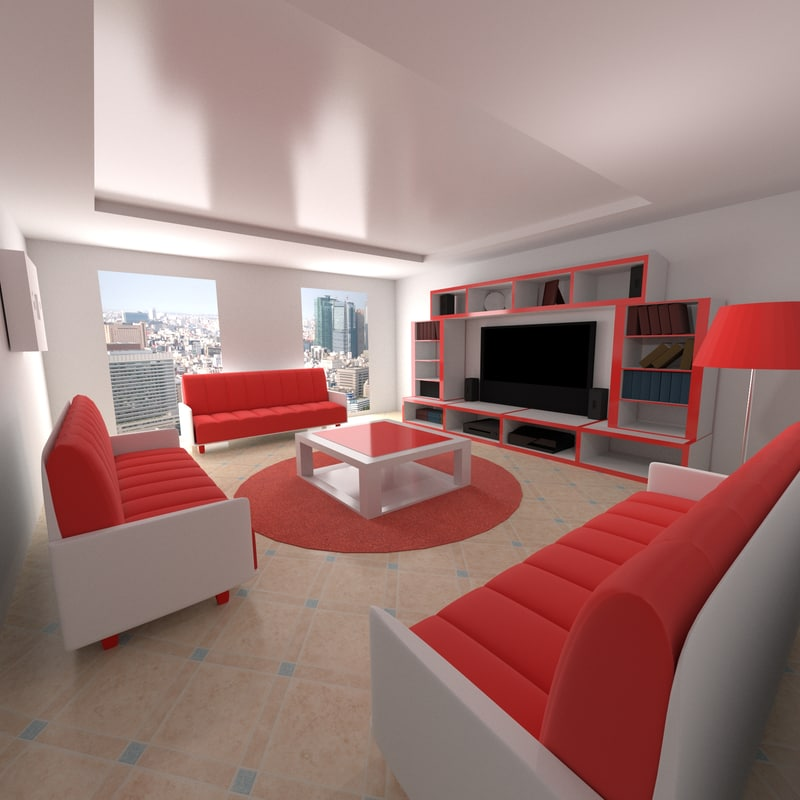 3ds max room