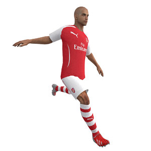 3d rigged soccer player body