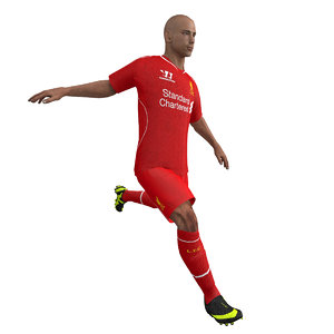 rigged soccer player body max