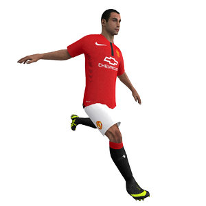 3d model rigged soccer player body