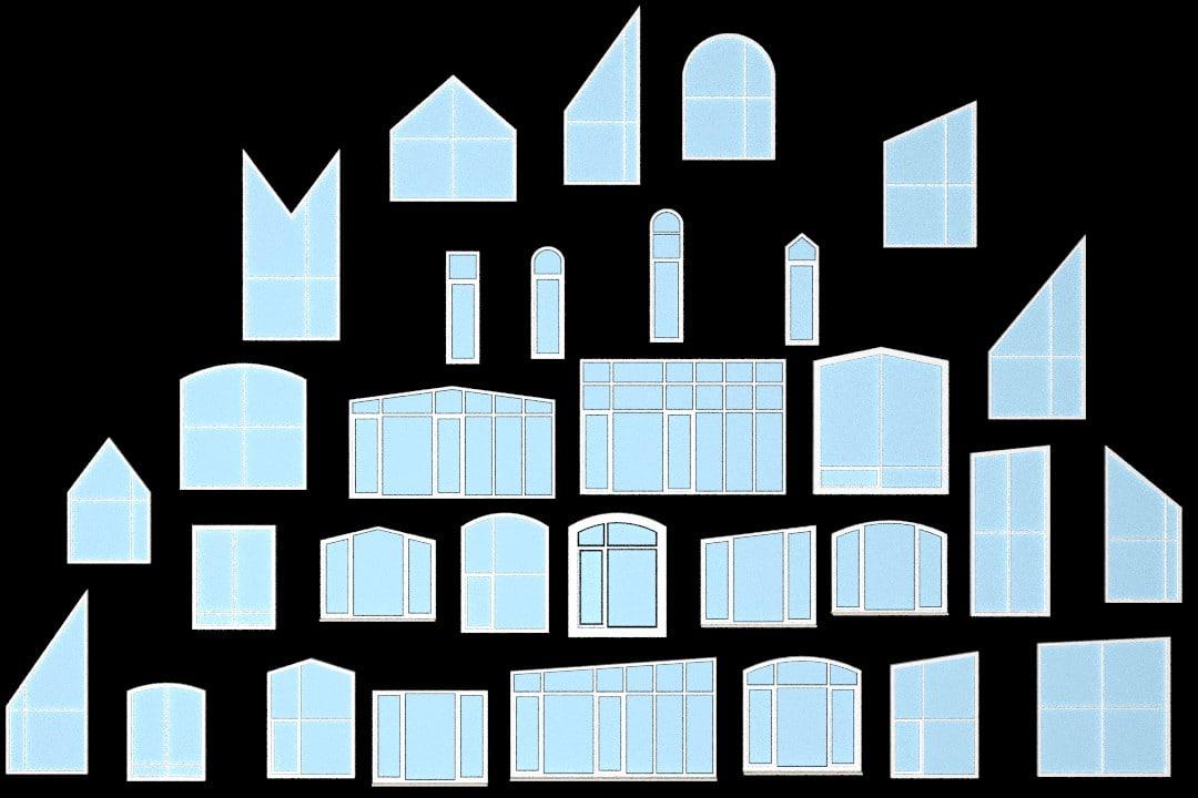 windows glass interior dxf