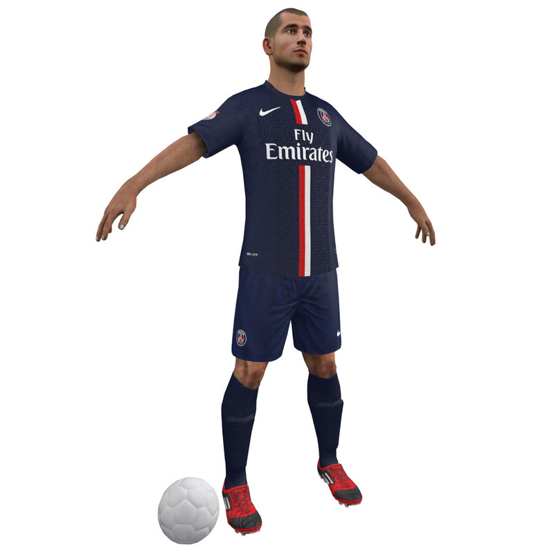 soccer player body 3d max