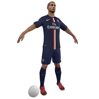 soccer player body 3d max