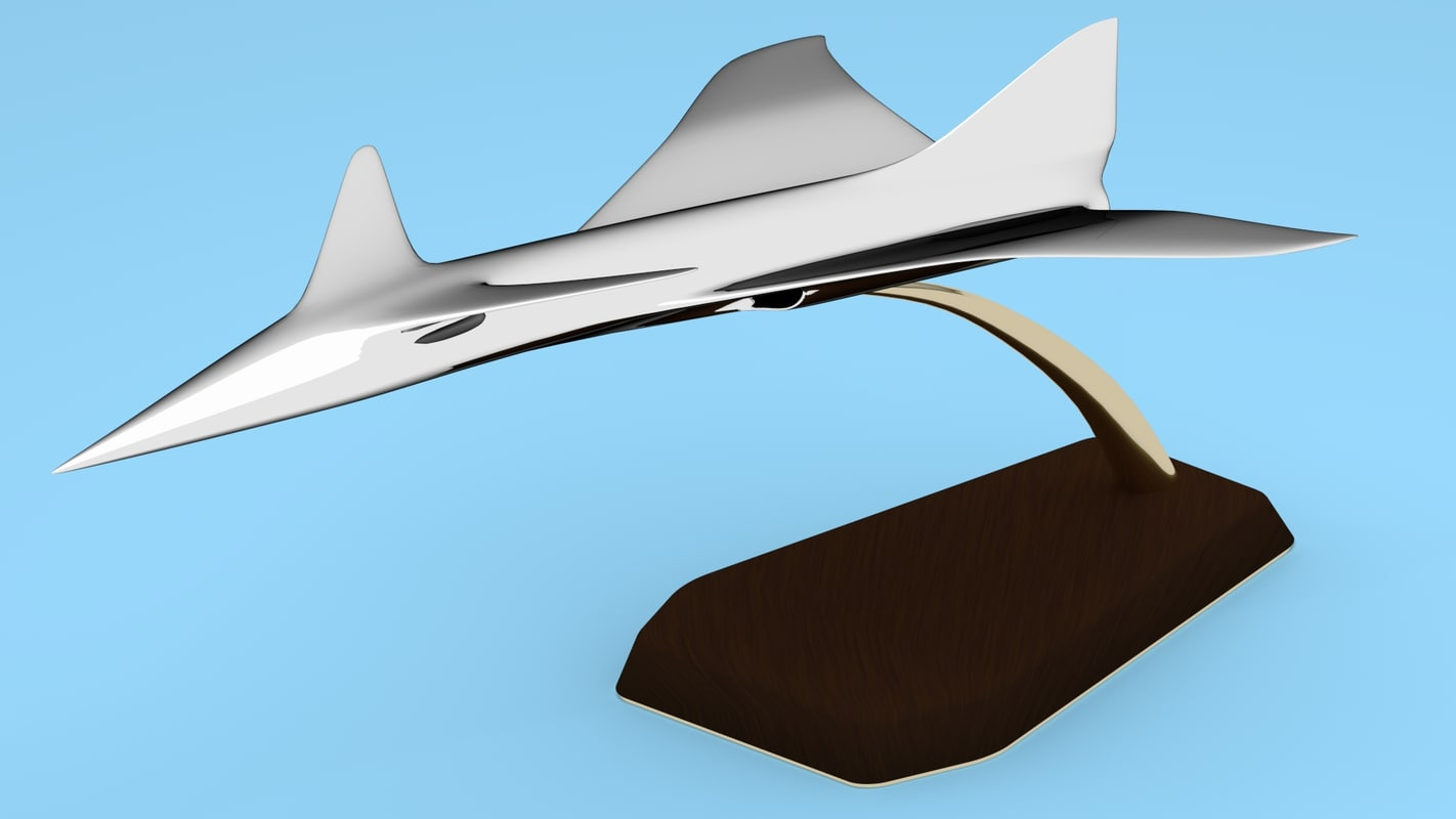statuette aircraft 3d obj