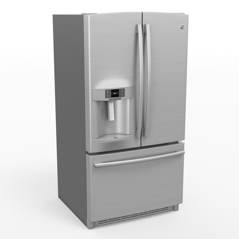 ge refrigerator 3d max