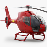 3d model eurocopter ec 120 red