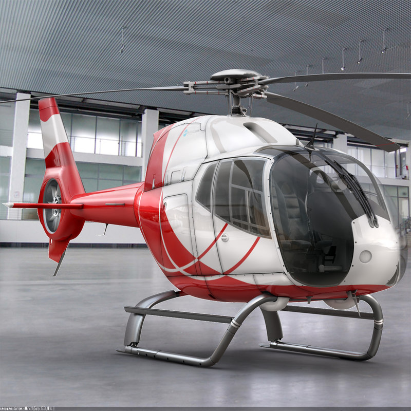 eurocopter ec 120 helicopter interior 3d model