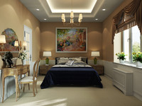 Bedroom classic interior