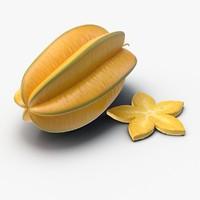 star fruit 3d model
