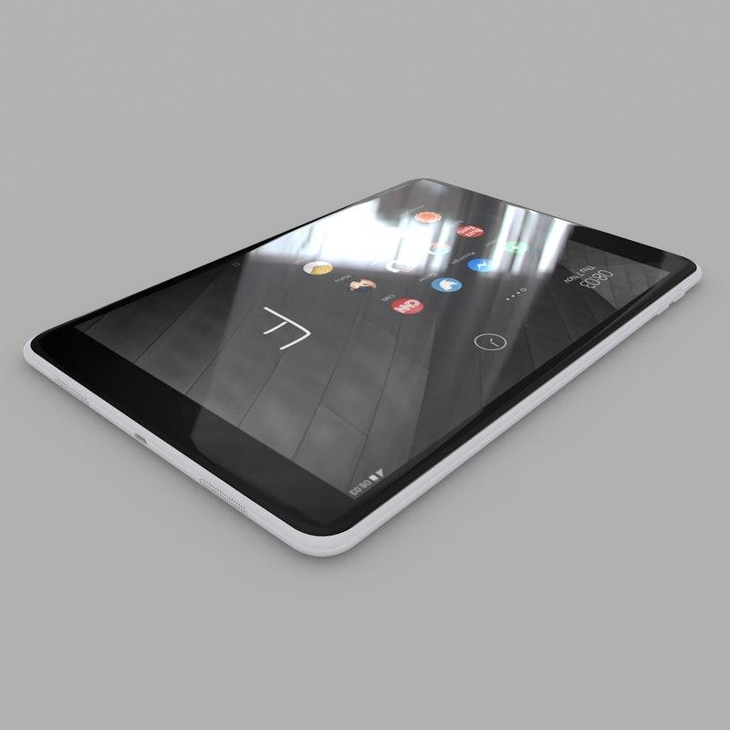 3d model nokia n1 tablet