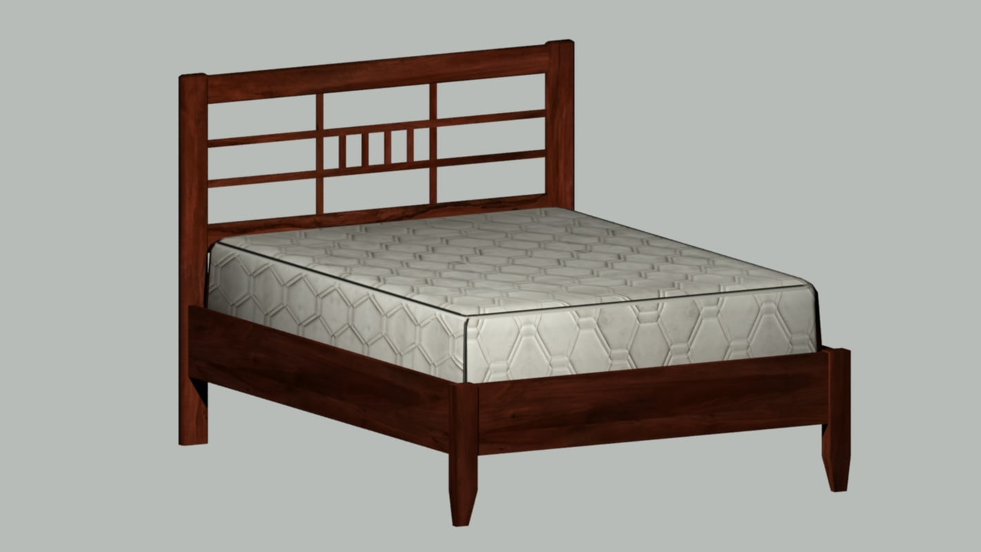 3ds max queen bed