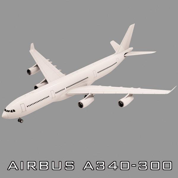 airbus a340-300 3d model