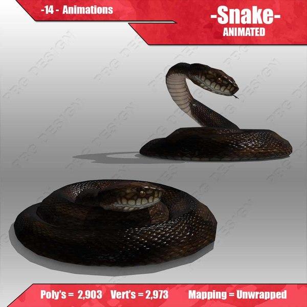 snake animations 3d model