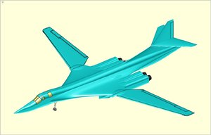 3ds max tupolev tu-160 supersonic bomber