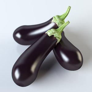 3d realistic eggplant model