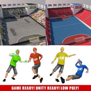 3d street soccer pack games model