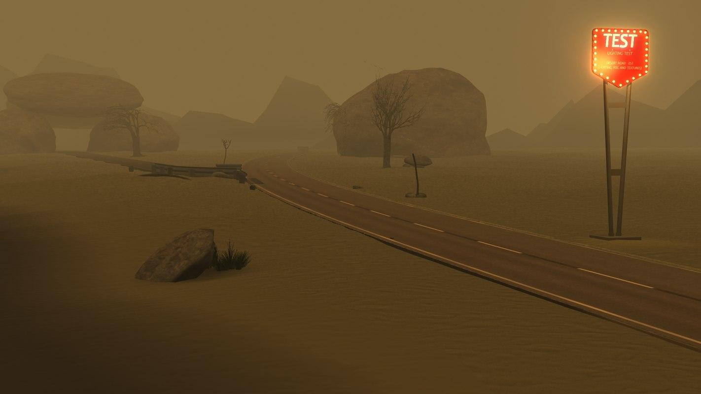 3d desert road model