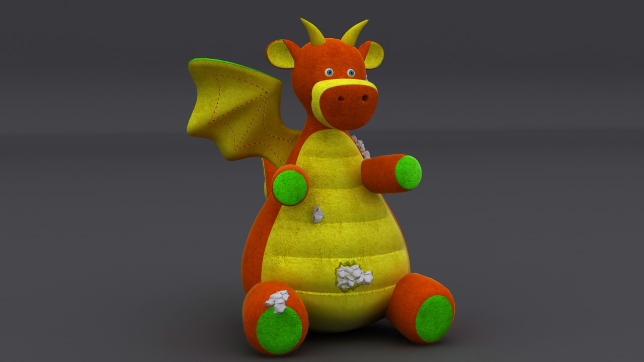 max stuffed toy dragon