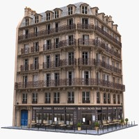 Paris Corner Tenement Restaurant 01